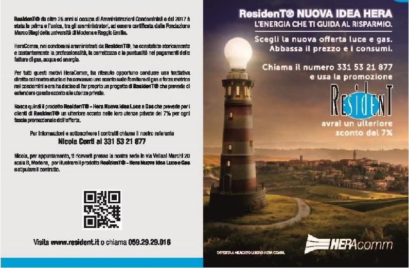 Con ResidenT® – Hera Nuova Idea Luce e Gas sconto del  7%  nelle utenze private